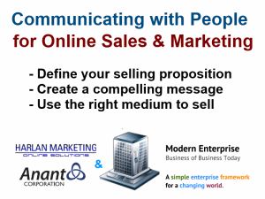 Communicating with People for Online Sales & Marketing